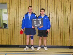 Marcel und Flori vom TSV  V  in Siegerlaune