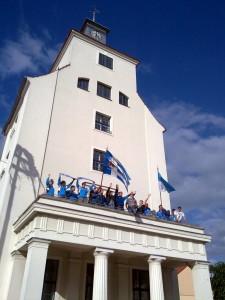 TSV auf dem Rathausbalkon