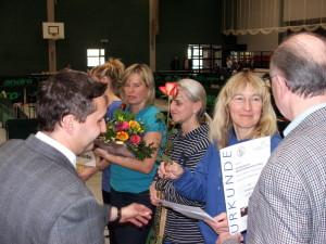 Bürgermeister Michael Knape bei der Siegerehrung