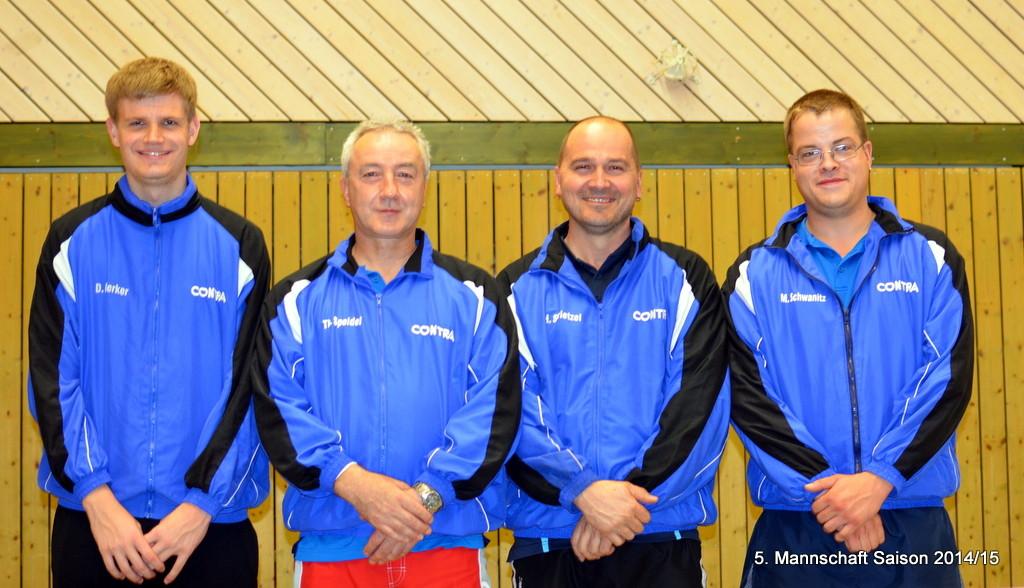 von links: Dustin Merker, Thomas Speidel, Heiko Strietzel, Marcel Schwanitz