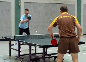 Robert Busse hier im Halbfinale gegen Tino Wernicke