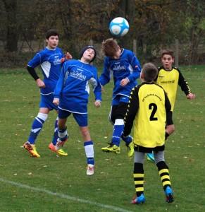 Luca, Anton, Malte im Spiel gegen Lehnin/Damsdorf
