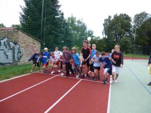 Start zum 1000 Meter-Lauf der Jungen