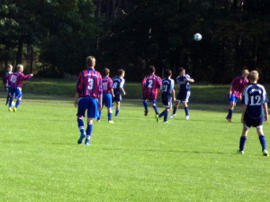 Mittelfeldduelle - v.li. Lukas (15), Felix (3), Maximilian (11), Kenny (2) und Daniel