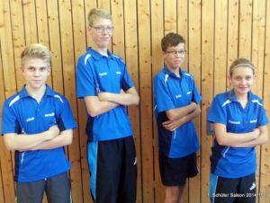 Jakob Braune, Florian Pust-Schmidt, Kevin Pust-Schmidt und Franceska Felgentreu