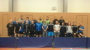 Gesamtbild Teilnehmer Kreismeisterschaften Tischtennis 2016