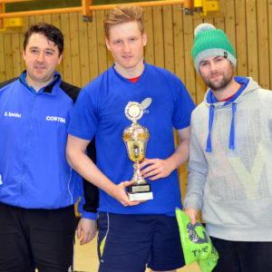 Siegerfoto (von links Daniel Speidel, Alexander Beau und Jens Trompke
